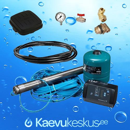 Puurkaevupumba-komplekt-Grundfoss-SQE-2-55-3-sagedusmuunduriga